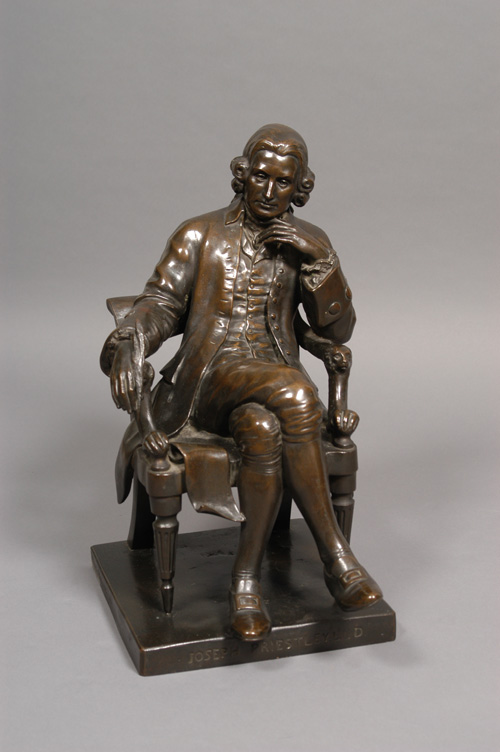 Bronze statue of Joseph Priestley by Frances Darlington, held by the Special Collections, Dickinson College, PA, USA