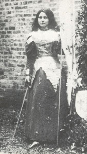 St. Thérèse as St. Joan of Arc!
