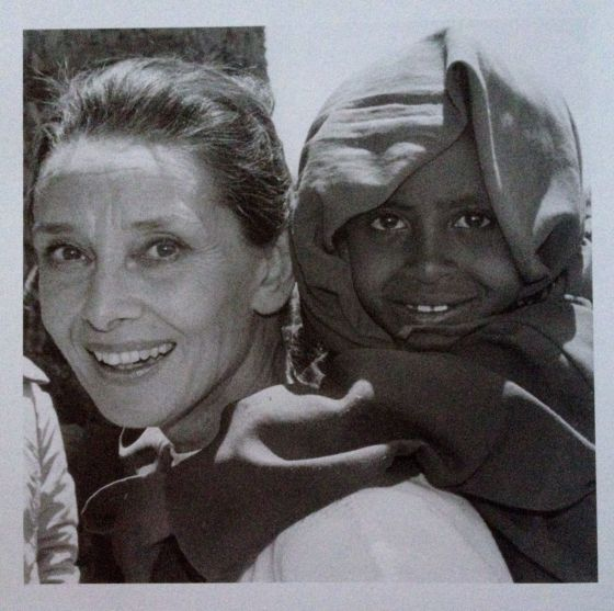 Audrey Hepburn UNICEF Ambassador 1988 by  john Isaac