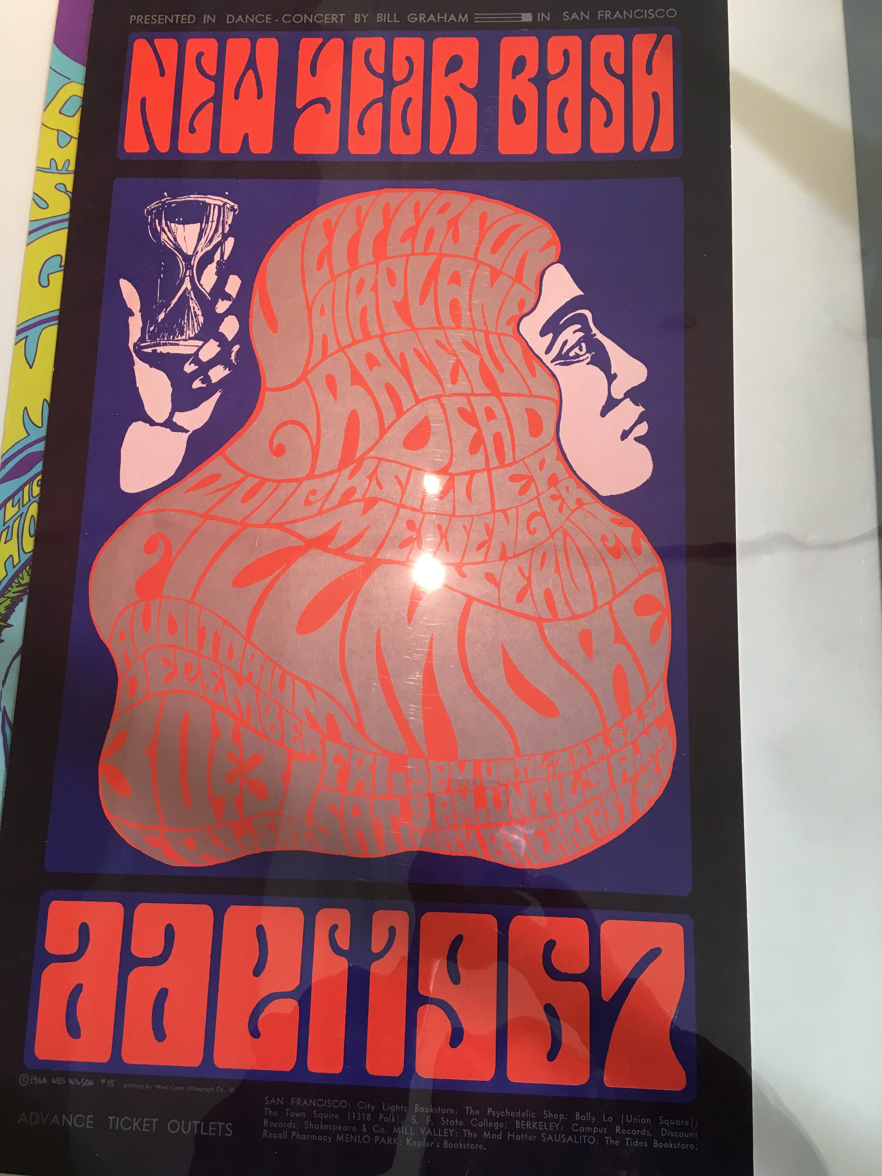 New Year Bash. 1966 Wes Wilson